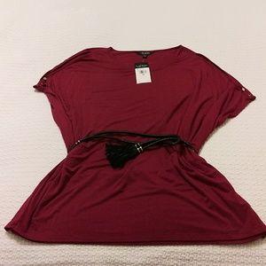 Ralph Lauren cold shoulder red blouse size 3X.